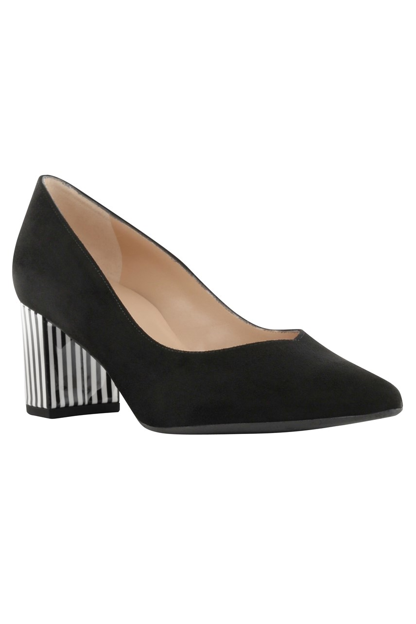 Naja Striped Heel Court Shoe