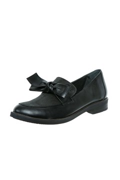 Loafer With Bow - black