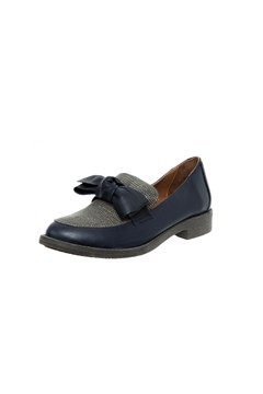 Loafer With Bow - navy