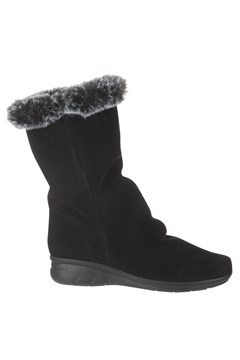 Faux Fur Cuff Boot BLACK 1