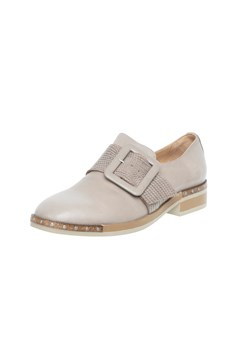 Loafer With Buckle - darkstone