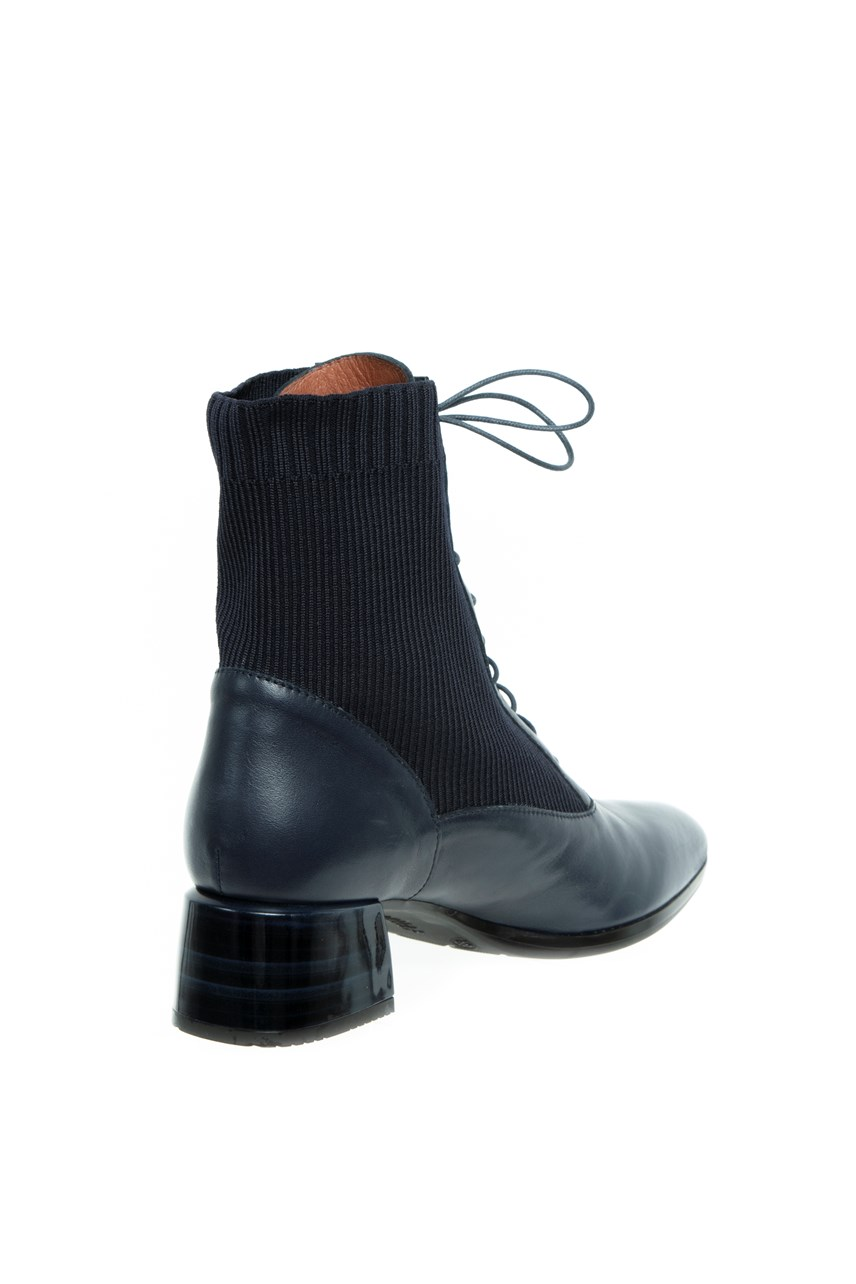 Lace Up Ankle Sock Boot