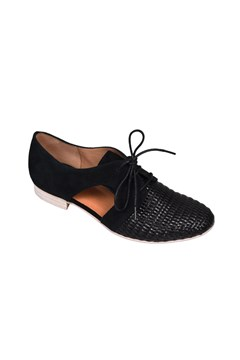 Jocane Lace Up Cut Out Derby Shoe NOIR 1