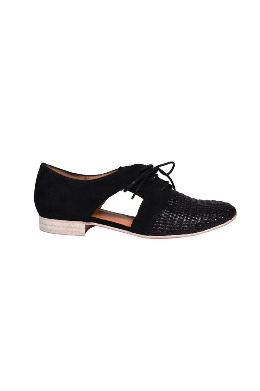 Jocane Lace Up Cut Out Derby Shoe