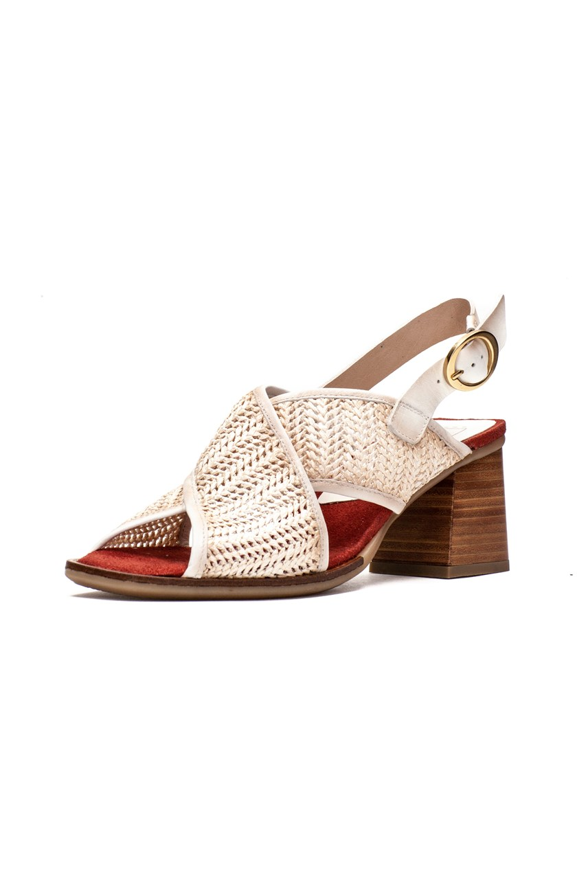Raffia Cross Over Sandal