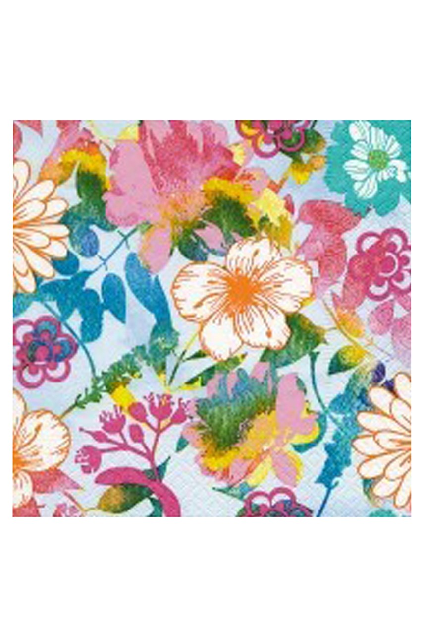 Painted Blossoms Cocktail Napkins