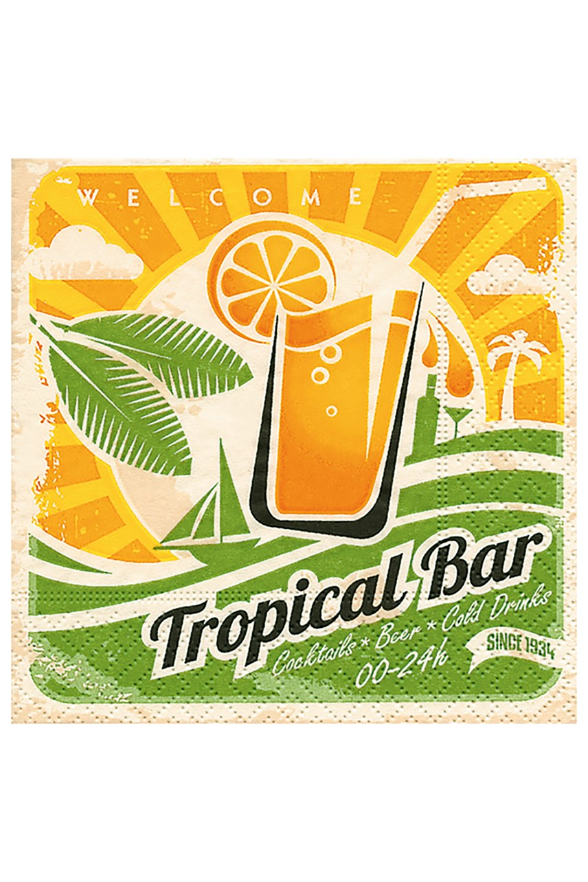 Tropical Bar Cocktail Napkin