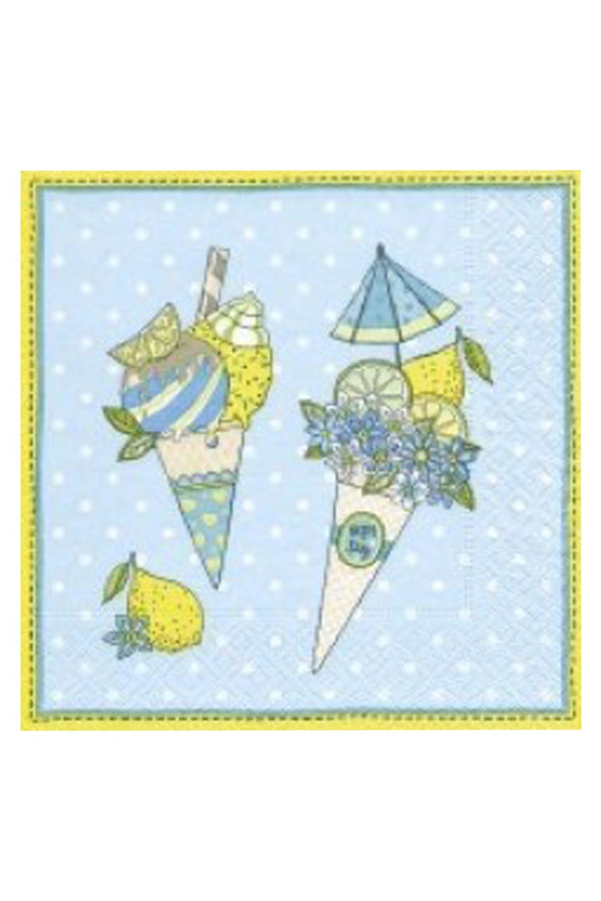 Ice Cream Cones Luncheon Napkins