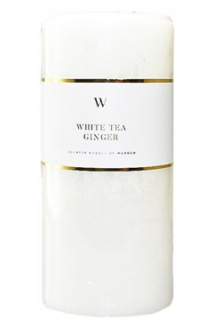 W Scented White Tea Ginger Candle - white tea ginger