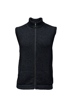 Zip Up Gilet 100 BLACK 1