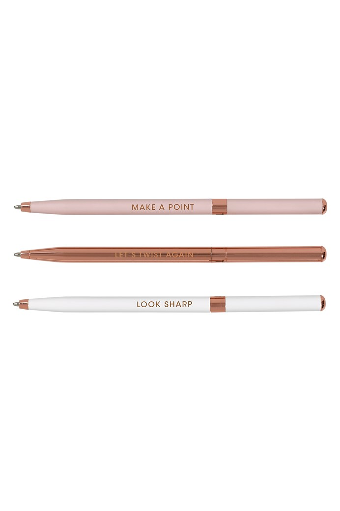Set Of 3 Ball Point Pens