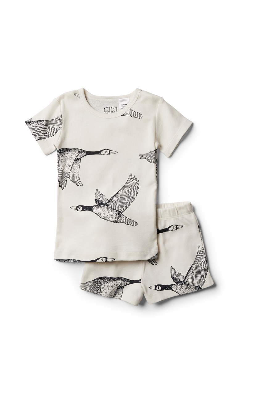 Organic Let's Fly Away Short Sleeve Pajama Set
