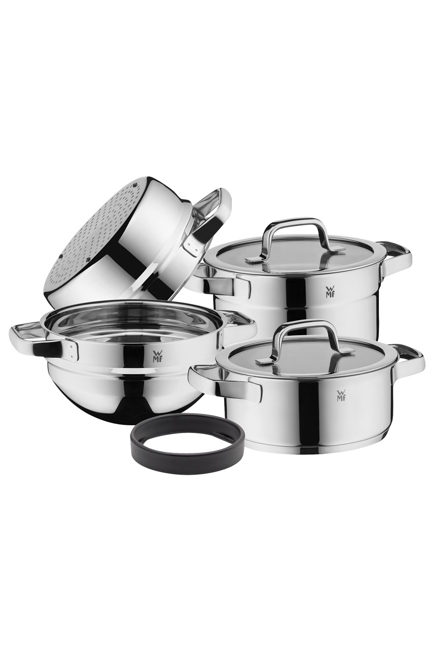Stackable 4 Piece Cookware Set