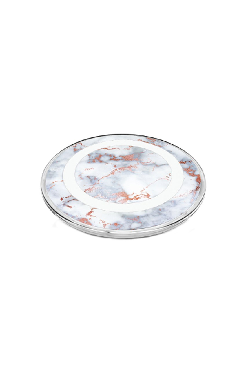 Wireless Phone Charger - White Marble