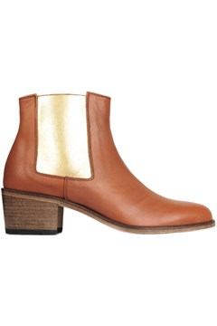 Jerry Low Ankle Boot BROWN GOLD 1