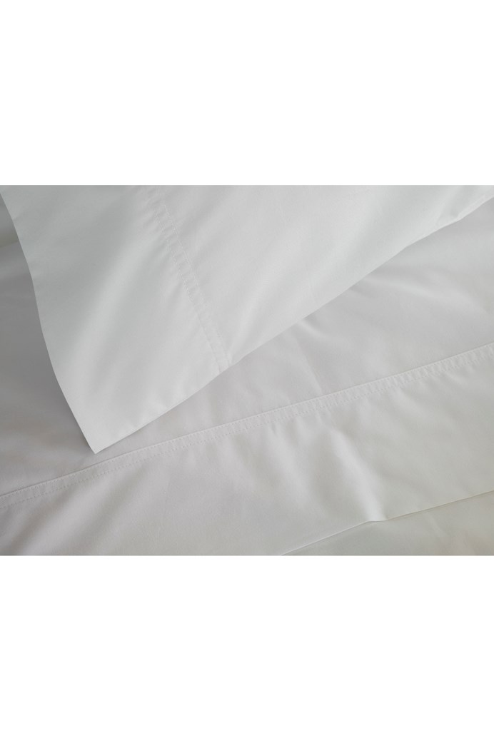100% Egyptian Cotton 310 Percale Sheet Set - KING SINGLE