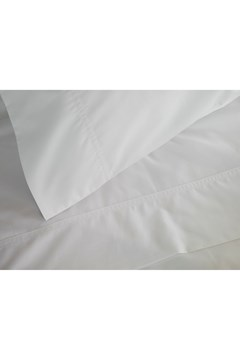 100% Egyptian Cotton 310 Percale Sheet Set - KING SINGLE WHITE 1