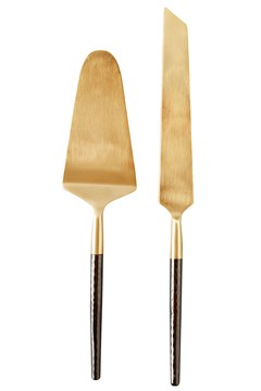 Santo Cake & Knife Set GOLD/BLACK 1