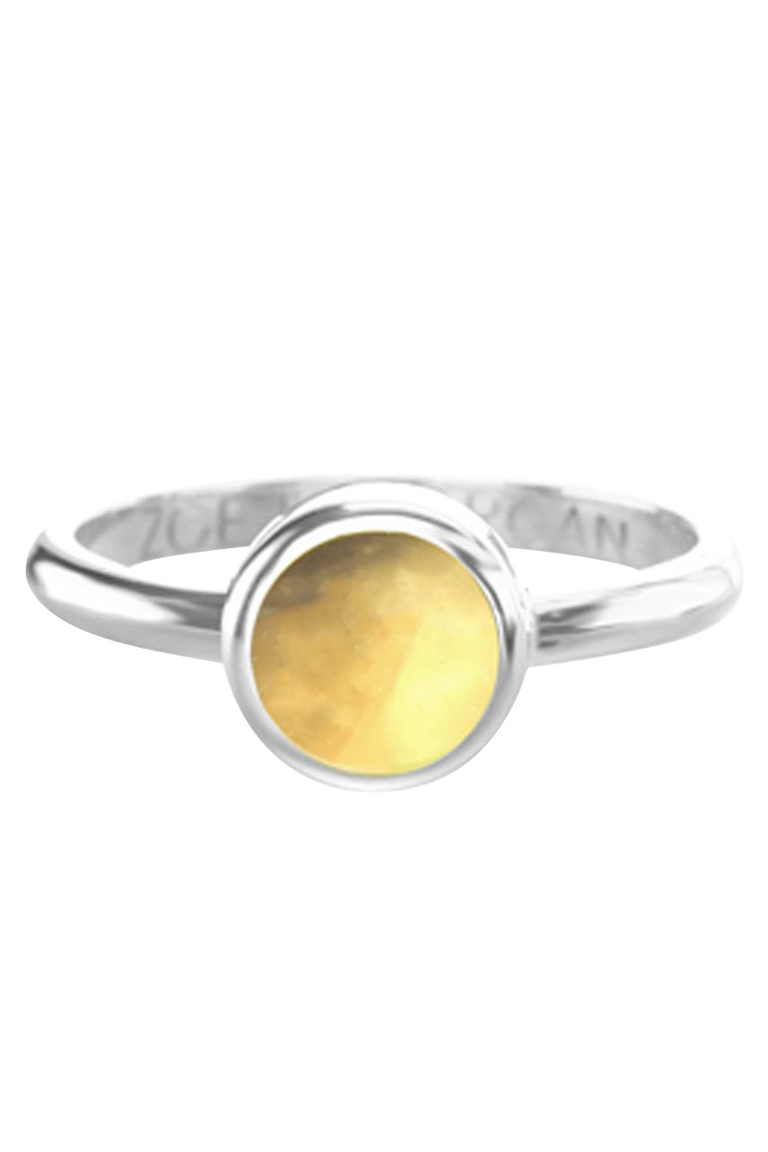 Cabochon Citrine Ring 7mm
