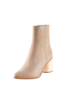 Ankle Boot Leather - buff